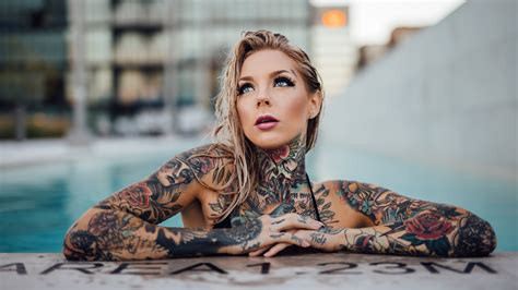 tattoo girl image hd tattooed girl wallpaper 8k wallpapers 4k 5k 8k