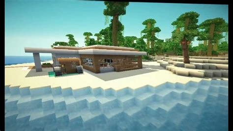 Modern Mansions by Minecraft Modern Beach House Youtube