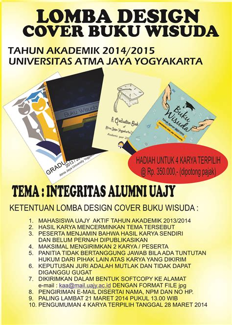 format buku wisuda lomba design cover buku wisuda tahun akademik 2014 2015 uajy