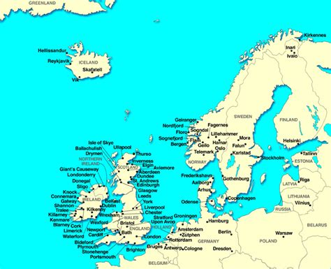 map of northern europe map of europe cities pictures printable maps of northern europe region