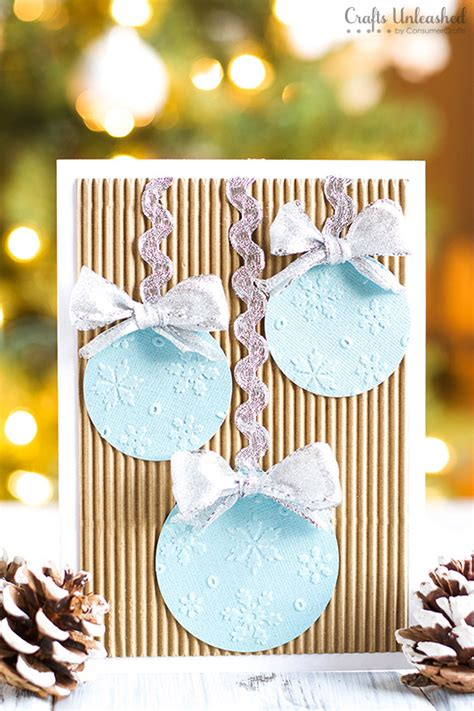 card ornament craft card diy ornaments tree crafts unleashed