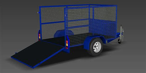 cage trailer plans trailer plans designs drawings