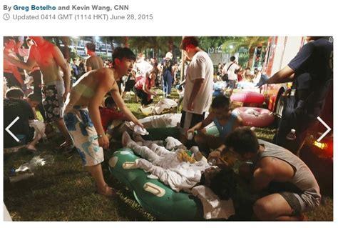 Air Di Taiwan taman rekreasi air di taiwan meledak ratusan orang