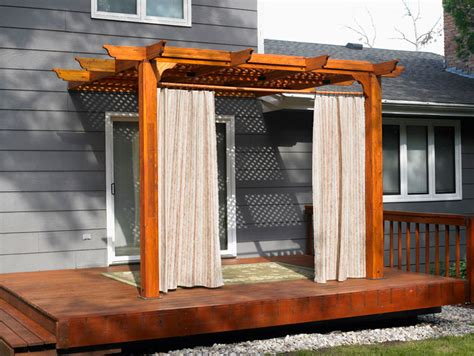 outdoor pergola drapes dream wood design know more arbor patio ideas