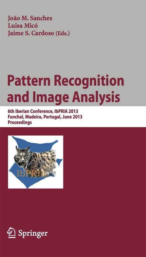 pattern recognition cover letter j miguel sanches webpage publications