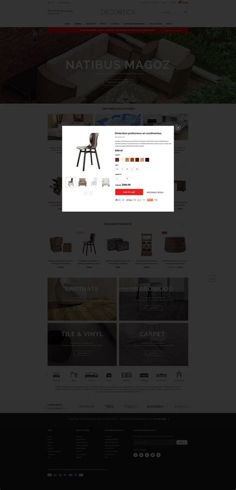 shopify templates responsive decortica responsive shopify template halothemes
