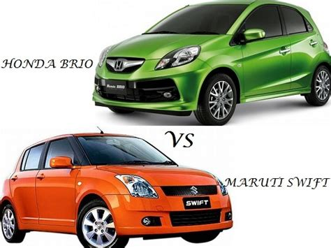 suzuki brio comparison maruti suzuki swift vs honda brio compare