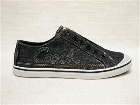 nib coach keeley denim no lace tennis shoes sneaker 6 ebay