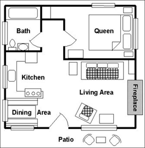one room cabin floor plans | view floor plan: main floor