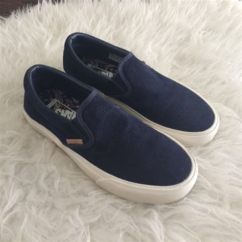 Adidas Slip On Suede Blue 43 vans shoes vans slip on knit suede dress blue