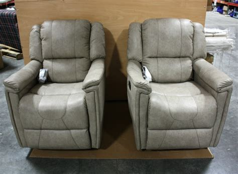 rv furniture thomas payne leather vinyl swivel glider