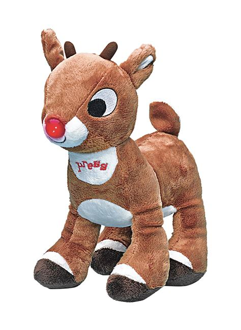 light up plush toys rudolph the nose reindeer light up plush