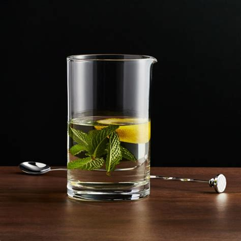 cocktail mixing glass crate barrel