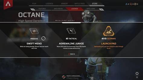 apex legends une nouvelle legende appelee octane rapide