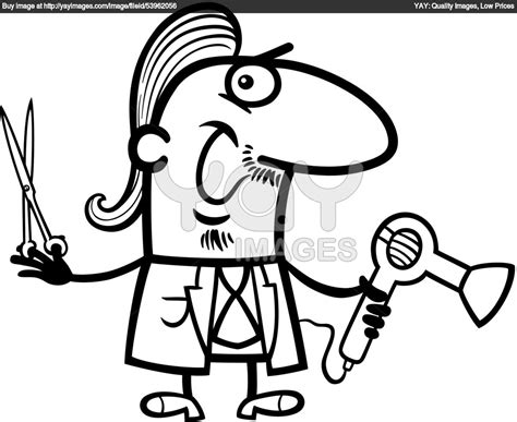 hairdresser coloring pages scissors coloring pages hairdresser barber cartoon