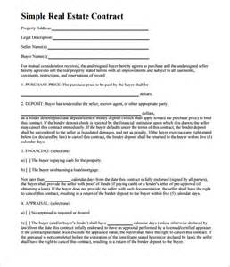 Free Real Estate Sales Contract Template 7 real estate contract templates free word pdf format