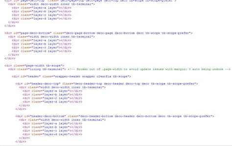 html div class which html div classes are relevant when styling views in