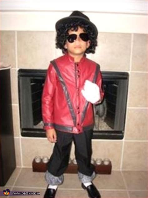 diy michael jackson costume boy dressed as michael jackson in thriller costume works
