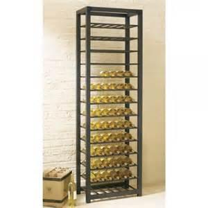 tag trio tall steel 84 bottle wine rack gt floor wine racks