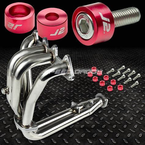 Sdd Ss 1 1 2 Stainless Pesan j2 for accord cd f22 stainless exhaust manifold header washer cup bolt ebay