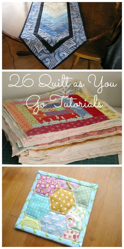 Simple Patchwork Projects - 26 quilt as you go tutorials easy sewing projects