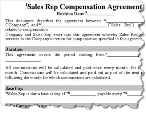 employee sales commission agreement template the power of incentives easy commission