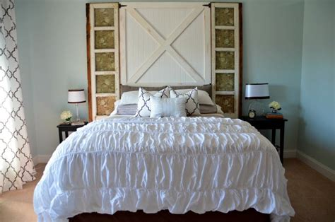 Diy Barn Door Headboard Bob Vila Diy Barn Door Headboard