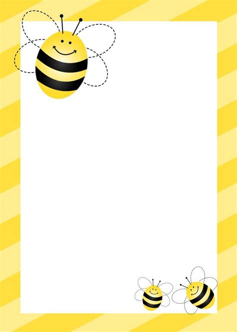 printable bee stationery bumblebee themed birthday party with free printables