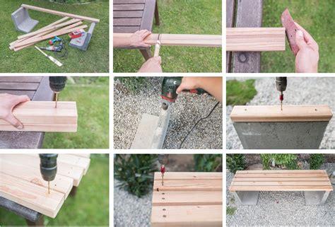 Terrassen Deko Ideen 2453 by Diy Gartenbank Mit Beton Und Holz Ideen Rund Ums Haus