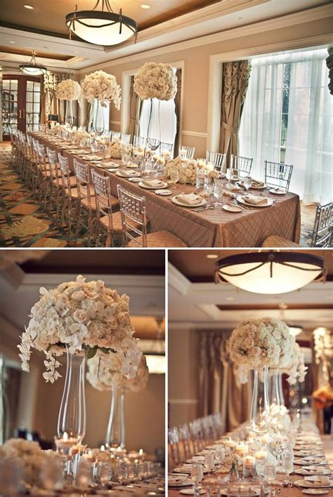 beige wedding wedding tables and tables on