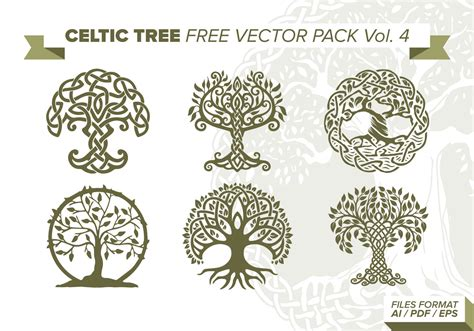 Celtic Tree Free Vector Pack Vol 4 Download Free Vector Celtic Tree Of Images