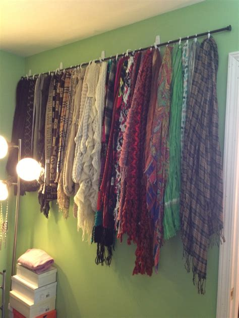 diy scarf curtains diy scarf wall curtain rod and 0 99 shower hooks from