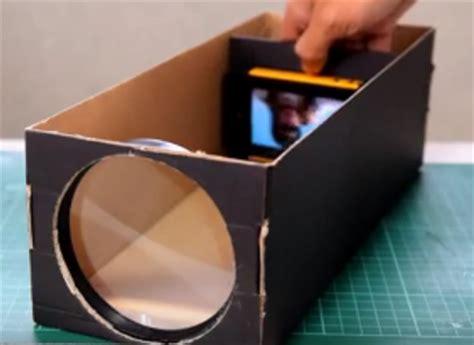 Proyektor Kardus kreatif membuat proyektor sederhana smartphone dengan kerdus kotak sepatu cara reset