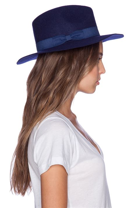 lack of color lack of color nightfall hat in blue lyst