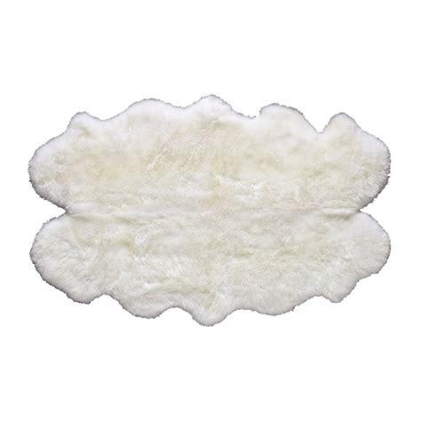 tappeto di pecora tappeto color avorio in pelle di pecora 110 x 180 cm