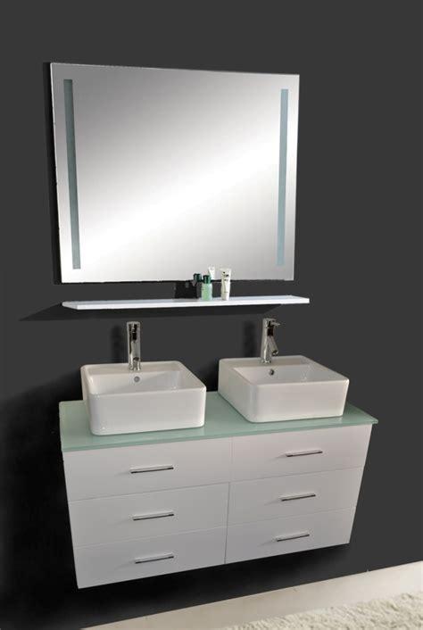 47 Inch Hunter Vanity   Wall Hung vanity   White Sink Vanity