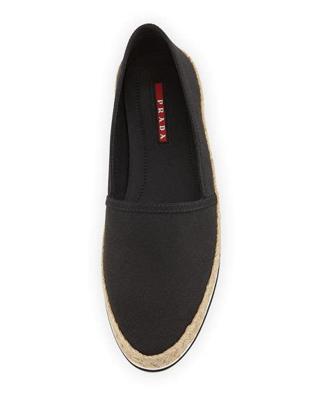 Prad Org Address Search Prada Gabardine Espadrille Loafer Nero