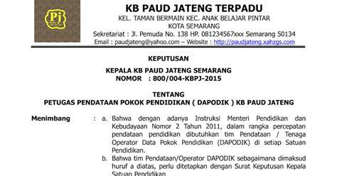 contoh sk penugasan operator download contoh sk operator sekolah paud tk kb tpa blog