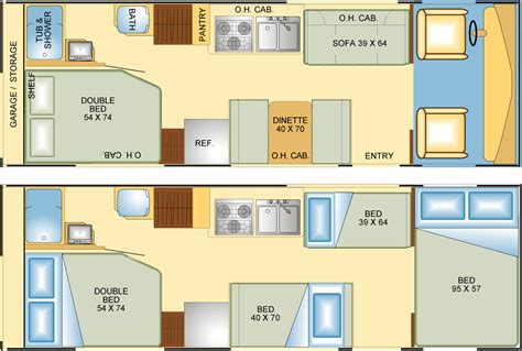 Rv Camper Floor Plans by Rv Floor Plans Google Search Route 66 Pinterest Rv