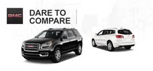 Buick Enclave Versus Gmc Acadia 2014 Gmc Acadia Vs 2014 Buick Enclave