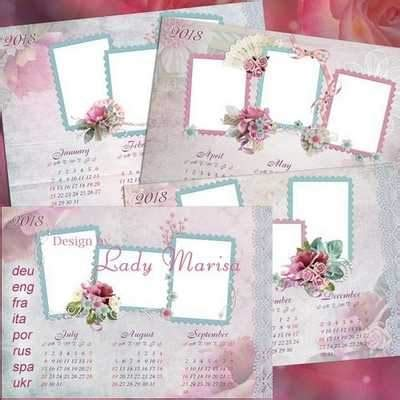 2018 2017 leaf calendar psd free