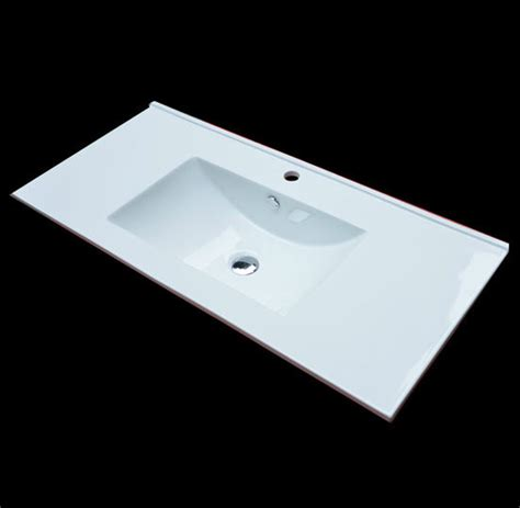 small rectangular drop in bathroom sinks a drop in bathroom sink that ahs a rectangular form