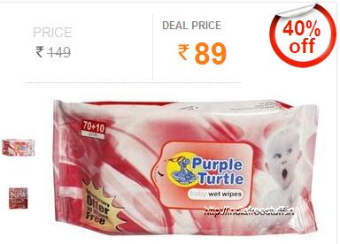 Promo Us Baby Baby Wipes Isi 80 Lembar Sale purple turtle baby wipes 80 sheets worth rs 149 rs 89