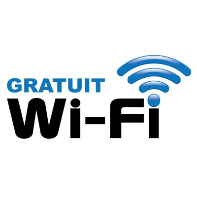 sticker autocollant wifi gratuit réf : 3110 sas