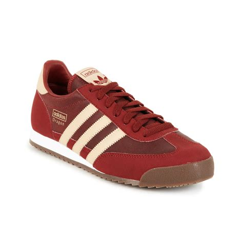 lyst adidas adidas originals dragon sneakers  red  men