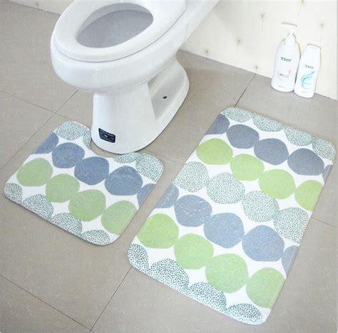 Toilet Mats by 2pcs Set Bathroom Mats Pedestal Rug Lid Toilet Cover And