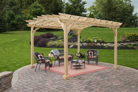 wood pergola kit wood pergola kits 10x12 amish cedar yardcraft lancaster county pa