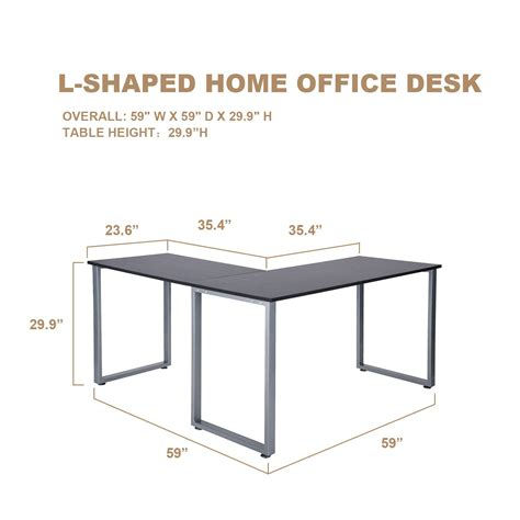 save 32 merax l shaped office workstation computer