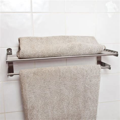 bathroom wall mounted towel shelves pack of 2