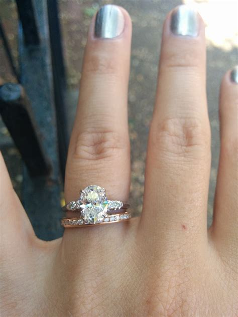 Wedding Ring Gap by Wedding Rings Engagement Wedding Ring Gap Mixed Wedding